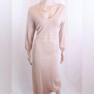 XL New York & Company Rose Gold Glitter Dress
